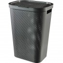 Cos rufe, Curver Infinity Recycled 60L, Negru, 44x60x35 cm