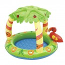 Piscina gonflabila, Bestway Friendly Jungle, parasolar si podea gonflabila, 99x91x71 cm