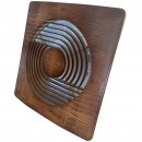 Ventilator axial de perete, Horoz Fan 120-Walnut, debit 120 m3/h, diametru 120 mm, 15W